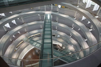 Inside the new EMBL Advanced Training Centre in Heidelberg, Germany