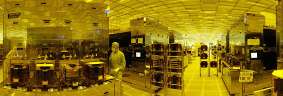 Clean rooms at STMicroelectronics, one of the 52 founding partners of the Minalogic cluster
