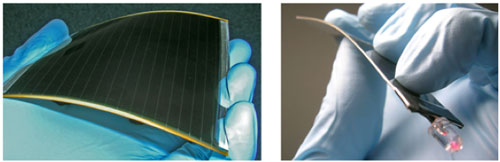 A flexible solar cell module