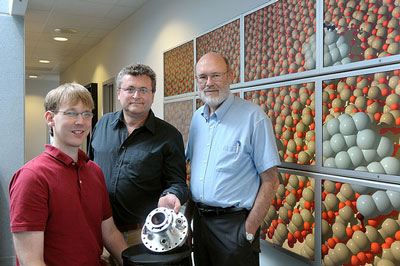 Argonne scientists (from left) Jeff Greeley, Stefan Vajda and Larry Curtiss have developed a new way of creating propylene that eliminates the many environmentally unfriendly by-products.