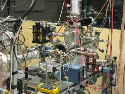 Image shows the ultra-high vacuum target chamber used in the experiment