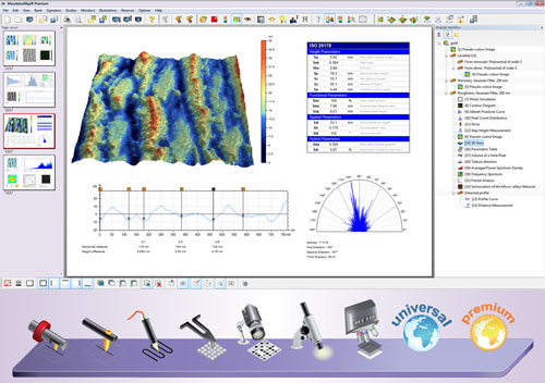 MountainsMap 6 instrument-oriented surface analysis solutions based upon Digital Surf's Mountains Technology software platform, with 64 bit native code and optimal exploitation of multicore technology