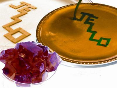 Jello-O type desserts can provide a safe, inexpensive way to teach kids about the microfluidic devices at the heart of lab-on-a-chip, inkjet printing and other technologies