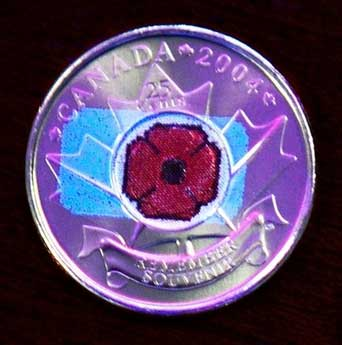 'Nanotechnology' poppy coin