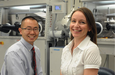 Argonne materials scientist Dillon Fong (left) and nanoscientist Elena Shevchenko received 2009 Presidential Career Awards for Scientists and Engineers