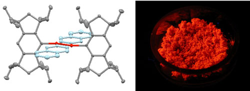 The x-ray crystal structure of a new compound with silicon–silicon double bond and naphthyl groups