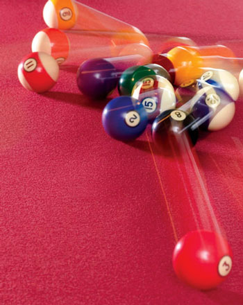a game of billiards