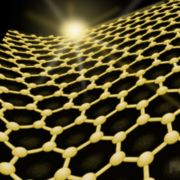 The structure of graphene, a flexible material made of carbon atoms arranged in a layer just one atom thick