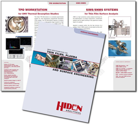 New Brochure Spread: Mass Spectrometers for Thin Films, Plasma & Surface Engineering