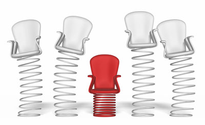 o-Phenylene oligomers can be envisaged as springy chairs
