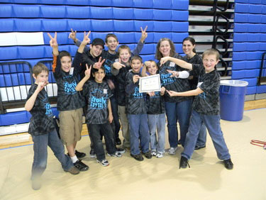 first Lego League team Storm System