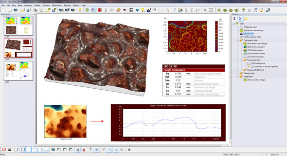 Leica Map's desktop reporting environment makes it easy to visualize and analyze measurement data and to generate reports with full metrological traceability