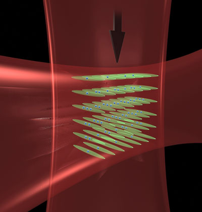 Intersecting laser beams create