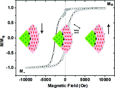 Magnetic hysteresis of core-shell Fe@Fe3O4 nanoparticles