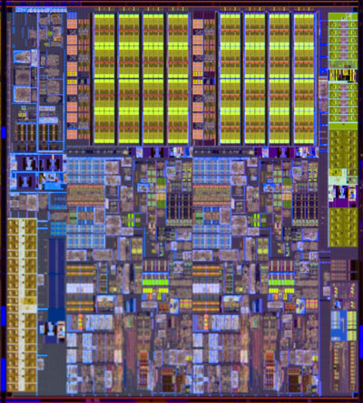 Intel 32nm Westmere chip