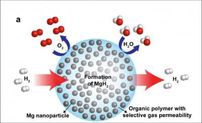 nanocomposite for hydrogen storage