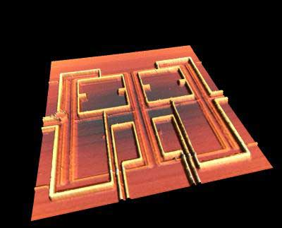 Superconducting rings on a chip