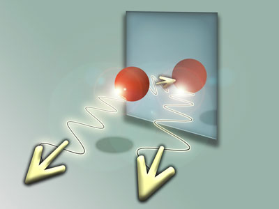 Towards the mirror or away from the mirror? Physicists create atoms in quantum superposition states