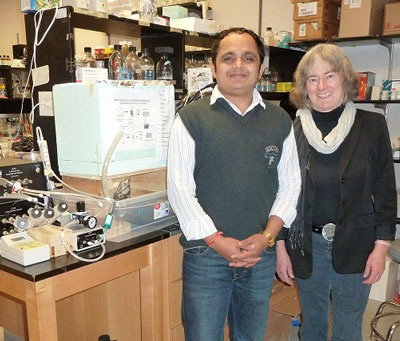 Queen's researchers Niraj Kumar and Virginia Walker