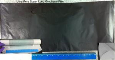 Super long graphene film
