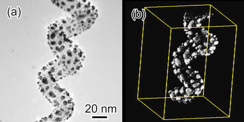 Electron tomography of a multi-walled carbon nanocoil