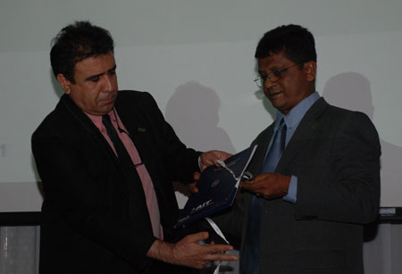 Prof. Said Irandoust releasing the Nanotechnology Portfolio with Prof. Joydeep Dutta
