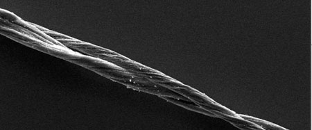 A power cable made entirely of iodine-doped double-walled carbon nanotubes