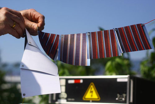 Printed solar cells on paper
