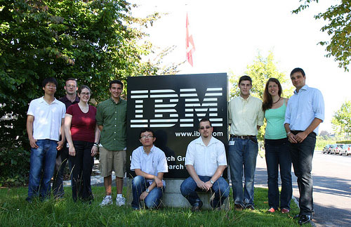 IBM summer interns in Zurich