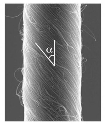 3.8-micron Diameter Carbon Nanotube Yarn