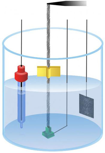 Illustration of an Electrolyte-filled Electrochemical Cell