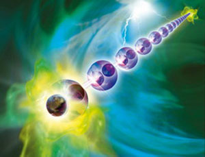 Majorana fermions are then generated at both ends of the atomic chain