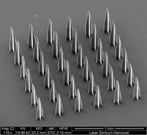 array of microneedles