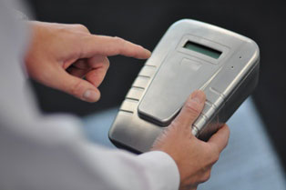 hand-held fingerprint drug testing device