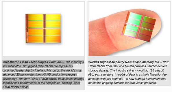Intel-Micron Flash Technologies 20nm die