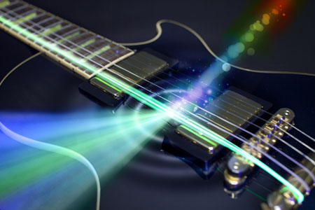 how to detect and amplify electromagnetic signals almost noiselessly using a guitar-string like mechanical vibrating wire
