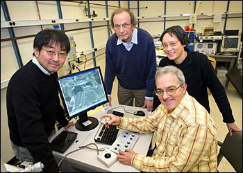 Brookhaven National Laboratory chemists Kotaro Sasaki, Radoslav Adzic, Jia Wang, and Miomir Vukmirovic