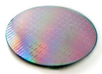Silicon wafer with photonics biosensorchips