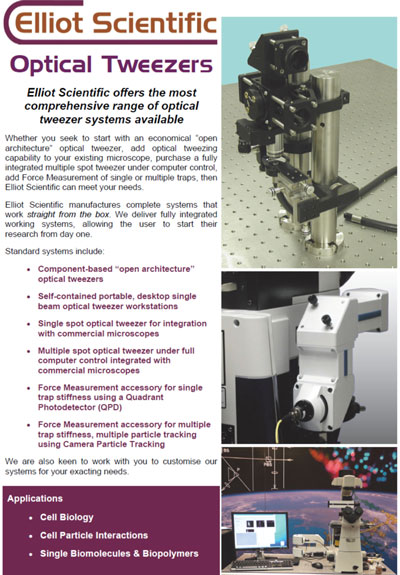 Elliot Scientific Optical Tweezer brochure