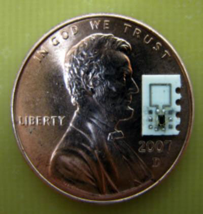 Scale Reference for Implantable Wirelessly Powered Medical Device