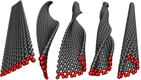 Graphene nanoribbons can be transformed into carbon nanotubes by twisting