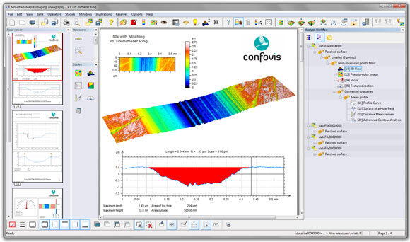 MountainsMap imaging and surface analysis software provides real-time 3D imaging