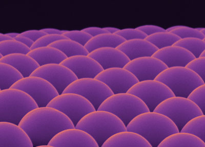 Microlens arrays made from calcium carbonate