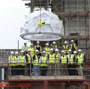 Buckyball tops new science building