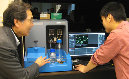 Professor Tuan Vo-Dinh discusses results from his NanoSight NS500 with Dr Hsiangkuo Yuan
