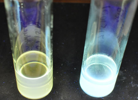 vials with quantum dots