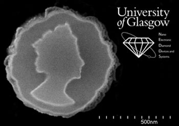 nanofabricated diamond coinn for Queen's Jubilee