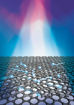 Electrons in bilayer graphene are heated by a beam of light