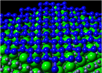 The result of theoretical calculation of  a stable silicene structure on ZrB2(0001)