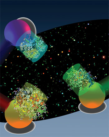 Lights scatter from metallic nanoplasmonic particles upon excitation of an external light source